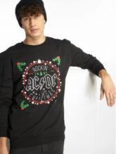 Merchcode Männer Pullover ACDC Christmas in schwarz