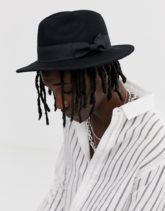 ASOS DESIGN - Fedora-Hut in Schwarz