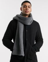 ASOS DESIGN - Grauer Strickschal