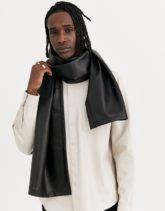 ASOS DESIGN - Schal aus schwarzem Kunstleder