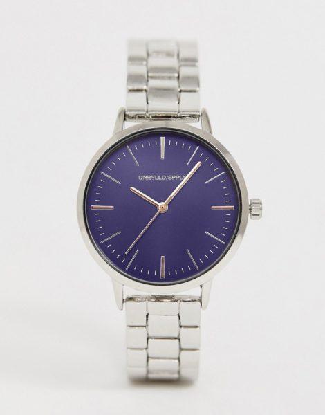 ASOS DESIGN - Schmale Armbanduhr in Silber