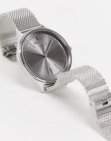 HUGO - 1530135 - Uhr mit Netzarmband in Silber