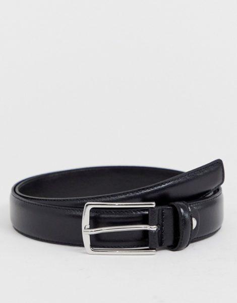 Jack & Jones - Gürtel aus hochwertigem, schwarzem Leder