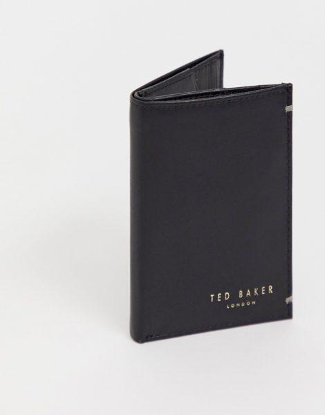 Ted Baker - Zacks - Aufklappbare Geldbörse aus Leder-Schwarz