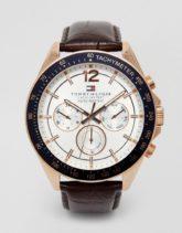 Tommy Hilfiger - Luke - Uhr mit Lederarmband, 1791118-Braun