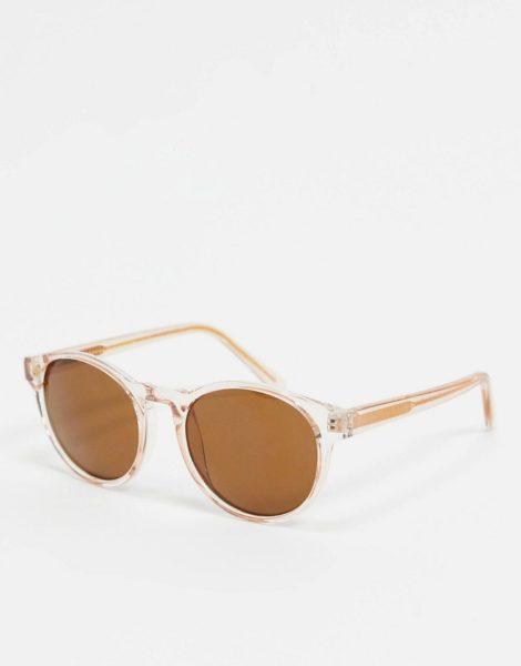 A.Kjaerbede - Runde Sonnenbrille in Beige