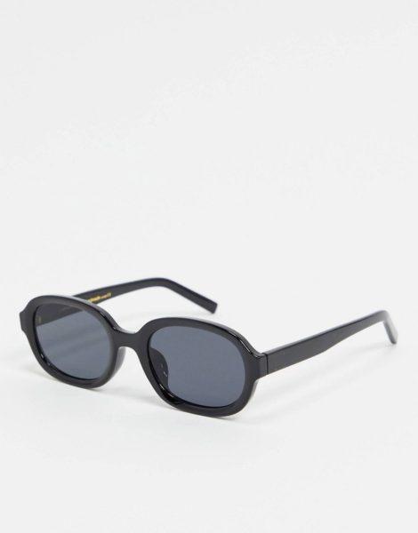 A.Kjaerbede - Runde Sonnenbrille in Schwarz