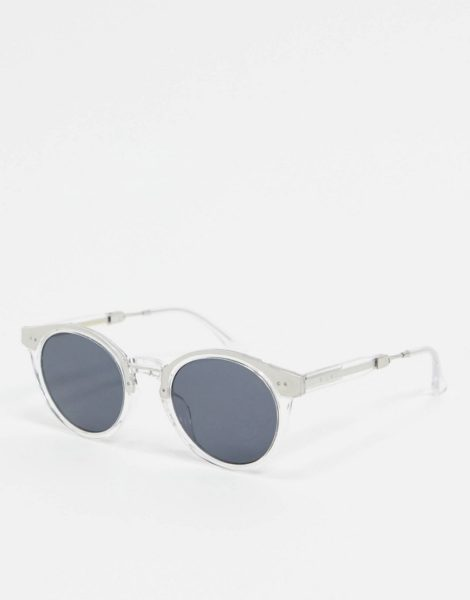 A.Kjaerbede - Runde Sonnenbrille mit transparentem Gestell und Metalldetails