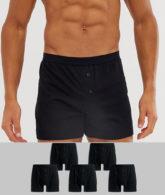 ASOS DESIGN - 5er Packung schwarze Jersey-Boxershorts - SPAREN