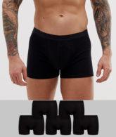 ASOS DESIGN - 5er Packung schwarze Unterhosen aus Bio-Baumwolle - JETZT SPAREN!