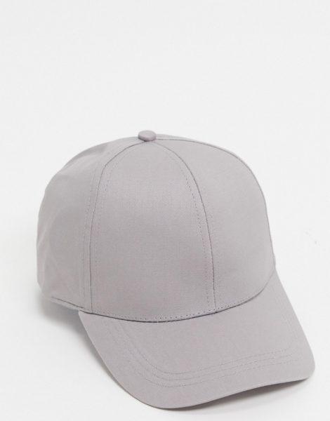 ASOS DESIGN - Baseball-Kappe in Grau