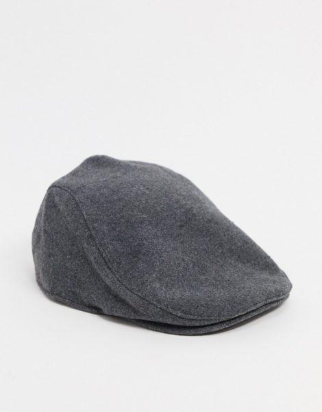 ASOS DESIGN - Flache Kappe in Grau