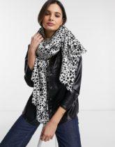 ASOS DESIGN - Langer Schal mit abstraktem Punktemuster-Mehrfarbig