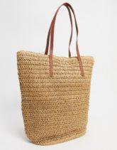 Accessorize - Shopper-Tasche aus Stroh-Beige