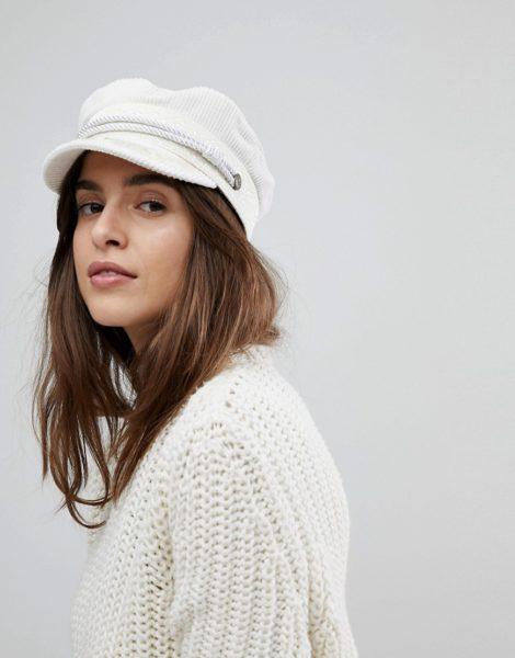 Brixton - Baker-Boy-Mütze aus weißem Cord
