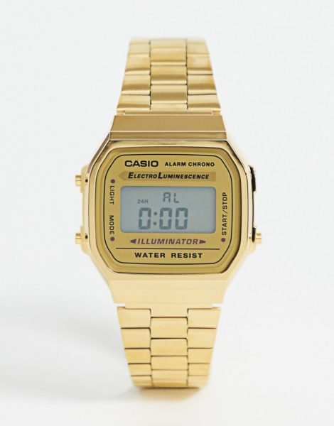 Casio - A168WG-9EF - Vergoldete, digitale Armbanduhr