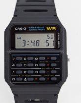 Casio - CA-53W-1ER - Schwarze Armbanduhr mit Rechnerdetail