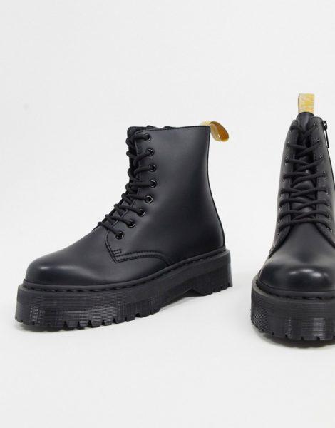 Dr Martens - Jadon - Vegane Stiefel in Schwarz mit Plateausohle