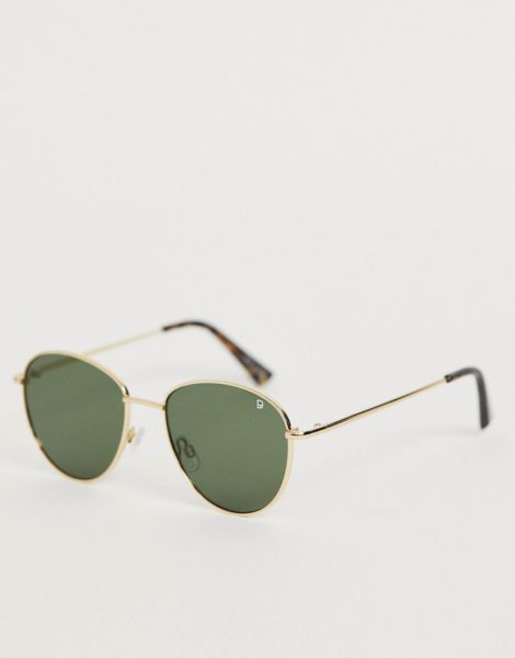 Dusk To Dawn - Nouveau - Runde Sonnenbrille in Gold
