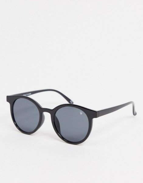 Dusk To Dawn - Runde Sonnenbrille in Schwarz