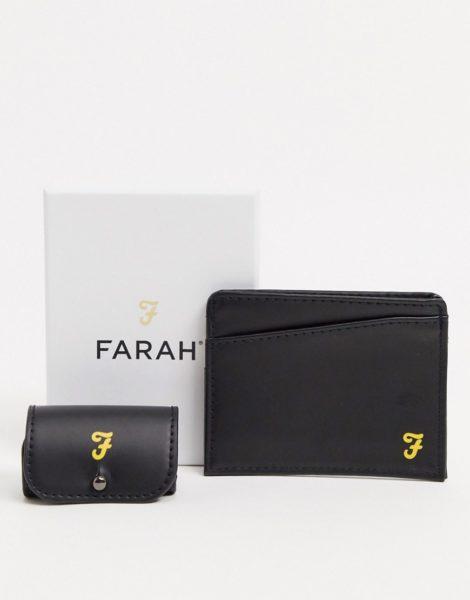 Farah - Geschenkset mit Kopfhörer-Etui und Karte-Schwarz