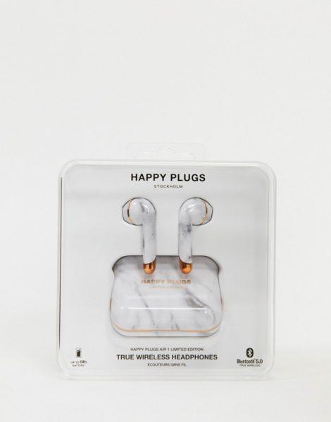 Happy Plugs - Truly Air 1 - Kabellose Kopfhörer in Marmor und Roségold, limitierte Auflage-Keine Farbe