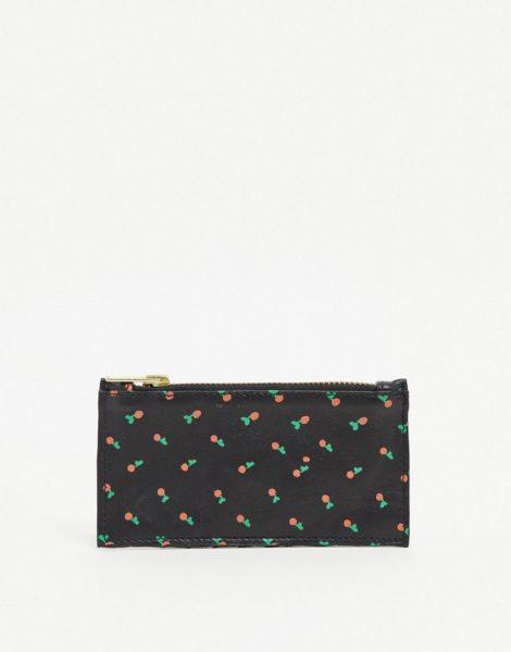 Ichi - Kartenetui und Geldbörse mit Kirschprint-Mehrfarbig