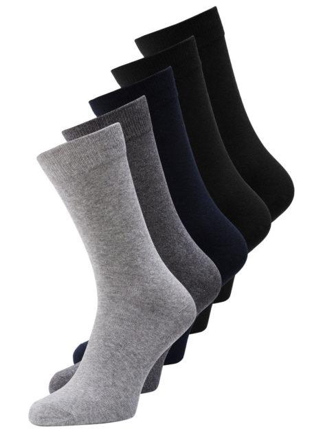 JACK & JONES 5er-pack Klassische Socken Herren Grau