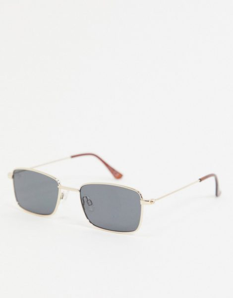 Jeepers Peepers - Rechteckige Sonnenbrille in Gold