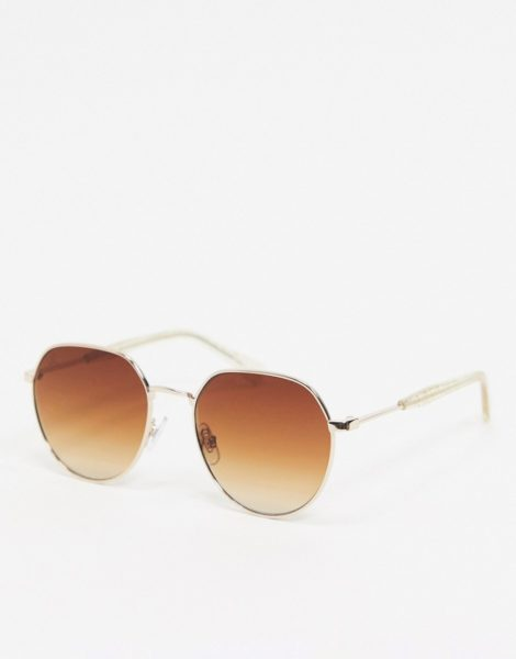 Jeepers Peepers - Runde Sonnenbrille in Gold