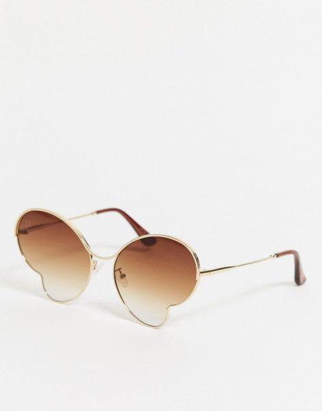 Jeepers Peepers - Schmetterlingsförmige Sonnenbrille in Gold