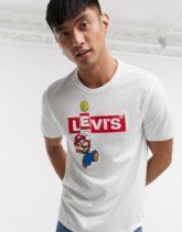 Levi's x Super Mario - Boxtab Bing - Weißes T-Shirt mit Logo