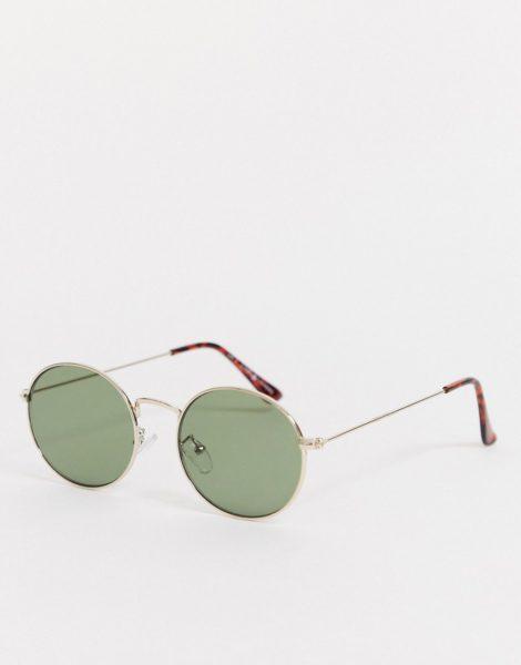 Liars & Lovers - Runde Sonnenbrille mit goldfarbenem Gestell