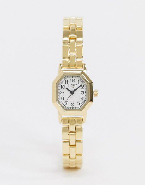 Limit - Achteckige Armbanduhr in Gold