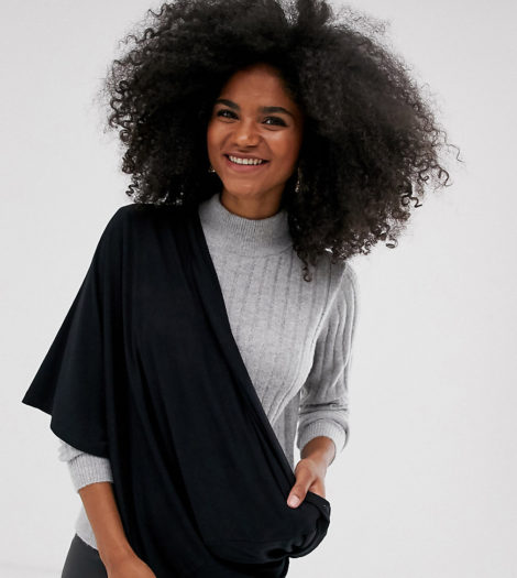 Mamalicious Maternity - Still-Tuch aus schwarzem Jersey