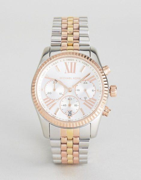Michael Kors - MK 5735 Lexington - Armbanduhr aus verschiedenen Metallen-Silber