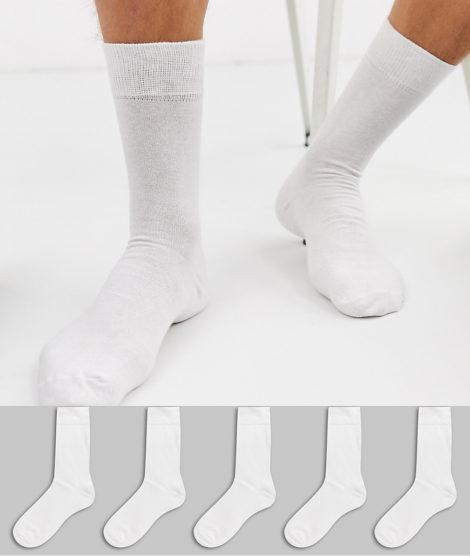 New Look - Weiße Socken im 5er Pack