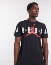 Nike - Jordan - Schwarzes T-Shirt mit Logo