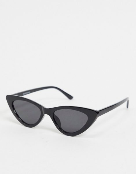 Noisy May - Cat-Eye-Sonnenbrille in Schwarz