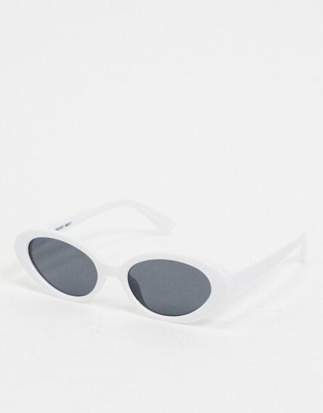 Noisy May - Runde Retro-Sonnenbrille in Weiß