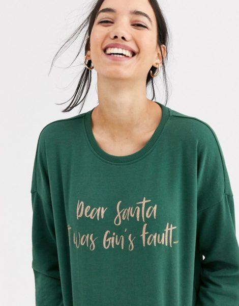 Only - Gin's Fault - Weihnachtspullover-Grün