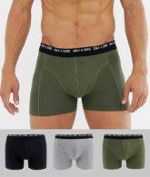Only & Sons - 3er Packung Unterhosen in verschiedenen Farben-Mehrfarbig