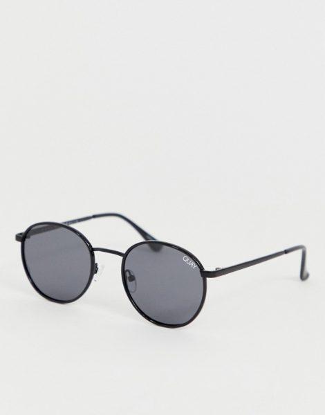 Quay Australia - Omen - Runde Sonnenbrille in Schwarz