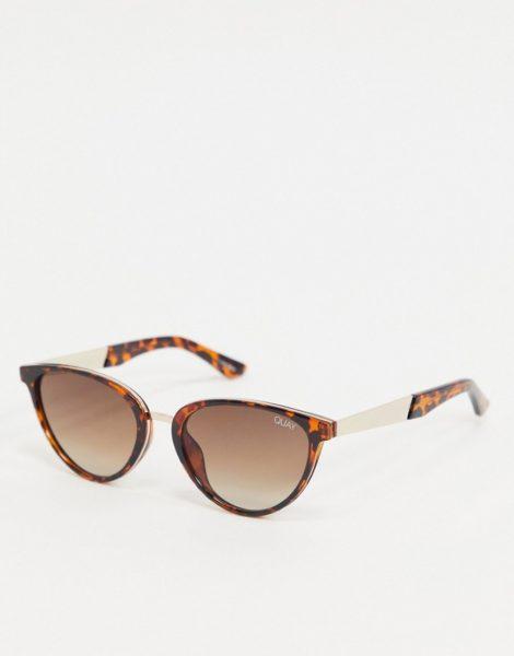 Quay Australia - Rumours - Cat-Eye-Sonnenbrille in Schildpattoptik-Braun