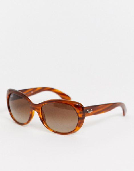 Ray-Ban - 0RB4325 - Übergroße, runde Sonnenbrille in Schildpatt-Optik-Braun