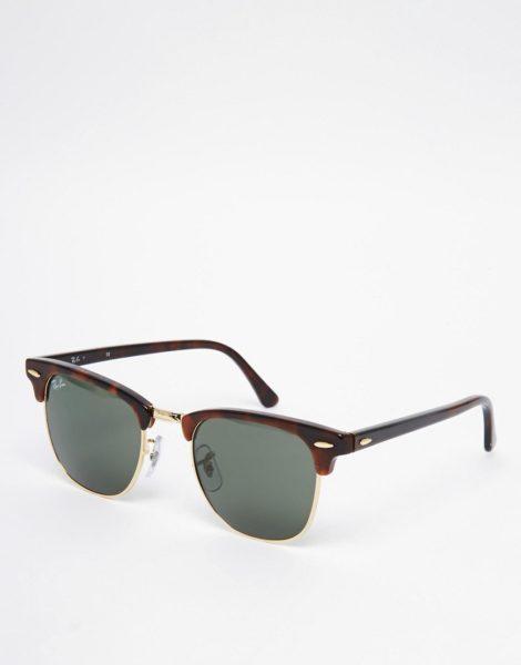 Ray-Ban - Clubmaster-Sonnenbrille, 0RB3016 W0366 49-Braun
