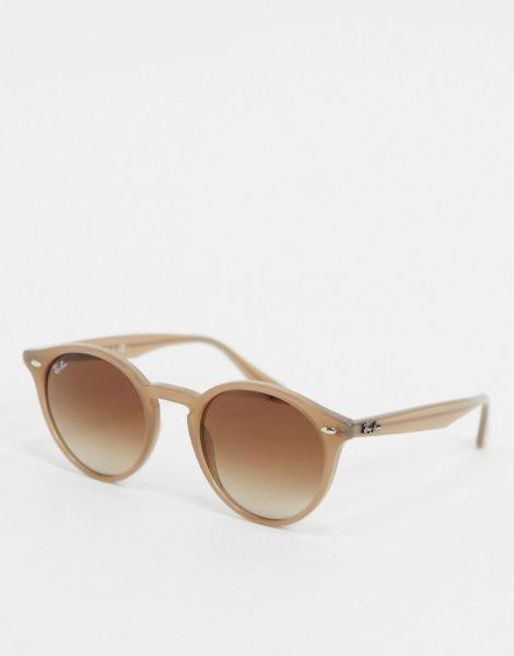 Ray-Ban - Runde Sonnenbrille in Beige, ORB2180-Grün
