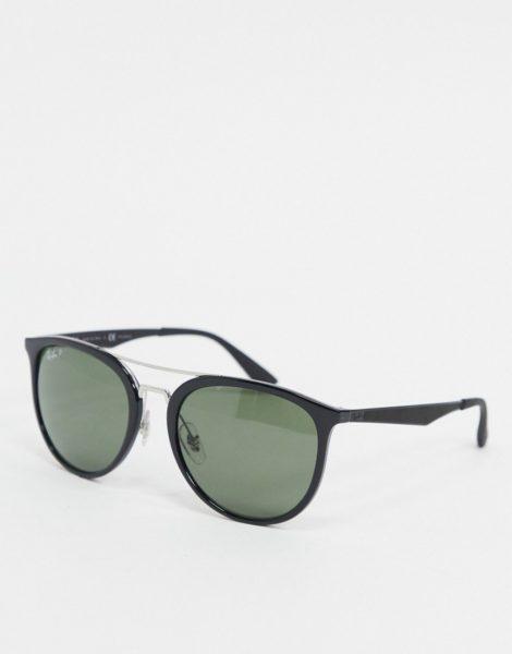 Ray-Ban - Runde Sonnenbrille in Schwarz, ORB4285