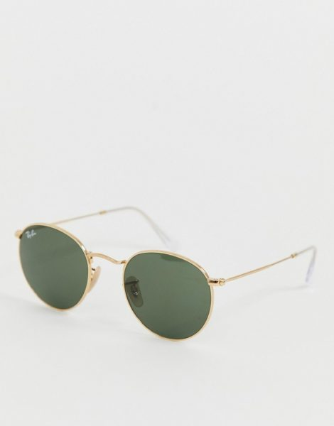 Ray-Ban - Runde Sonnenbrille mit Metall, 0RB3447-Gold