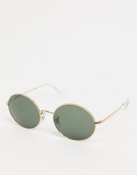 Ray-ban - Ovale Sonnenbrille in Gold, ORB1970